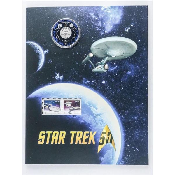Star Trek Stamp And Coin Set.