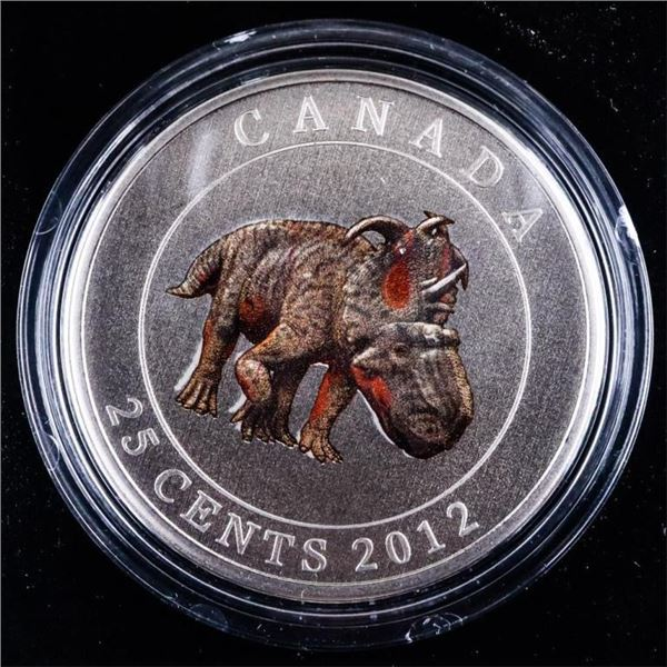 RCM 2012-25 -Cent Coloured Coin  -Pachyrhinosaurins Lakustai - First In the  Series