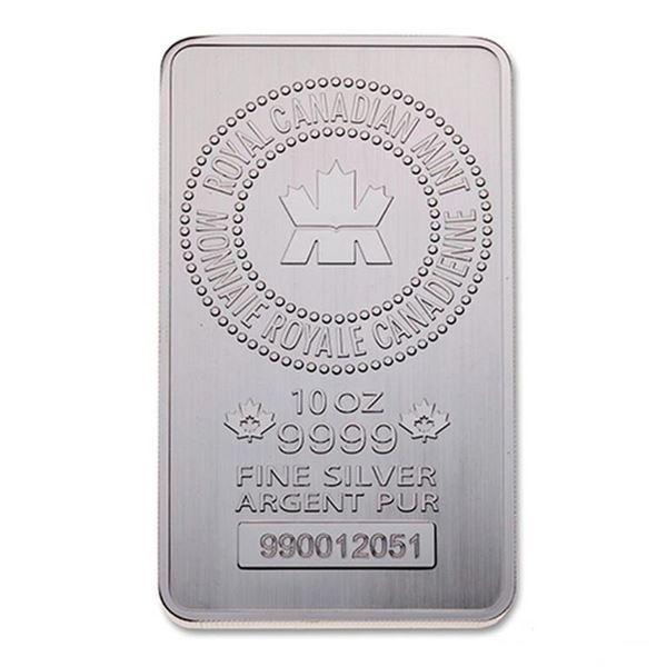 Premier - RCM 10oz .9999 Fine Silver Bar.  Very Collectible, Canadian Silver. (ESTIMATED  AVAILABILI