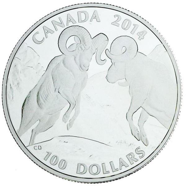 RCM 2014 Fine Silver $100 Bighorn Sheep