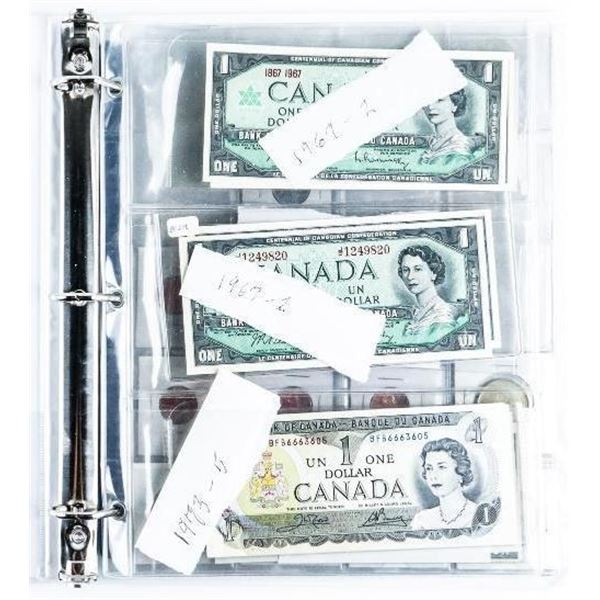 Canada Lot - Binder of Coins & Notes