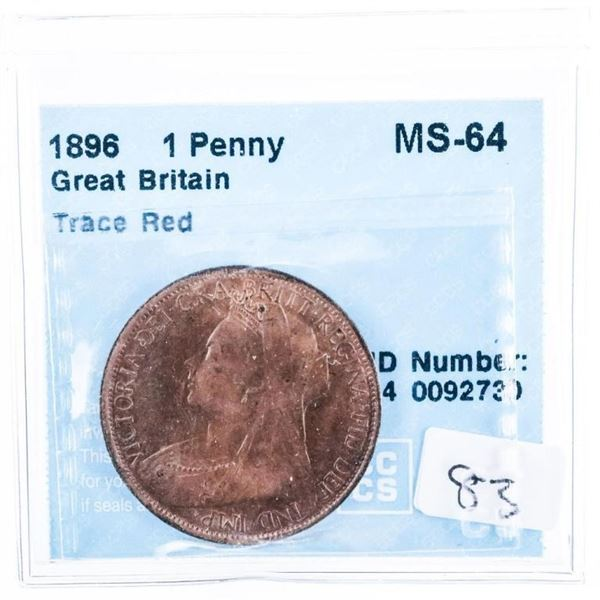 1896 Great Britain Penny MS-64 CCCS