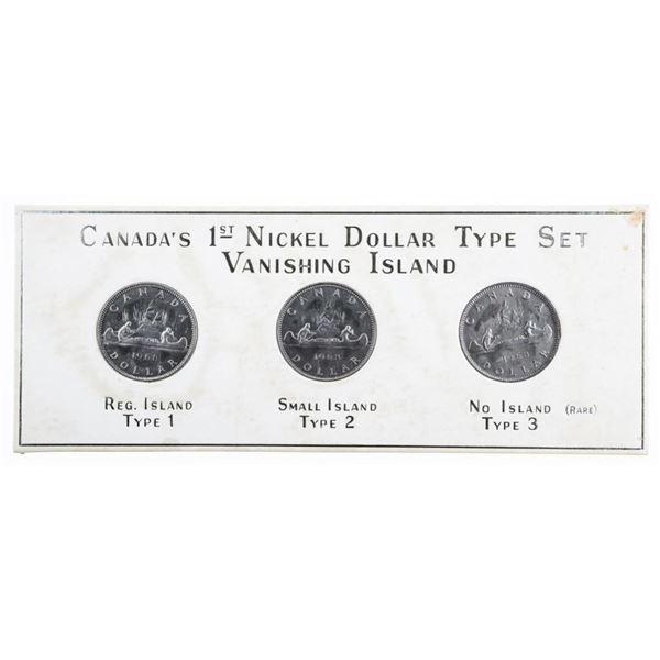 Canada's First Nickel Dollar Type Set  Vanishing island