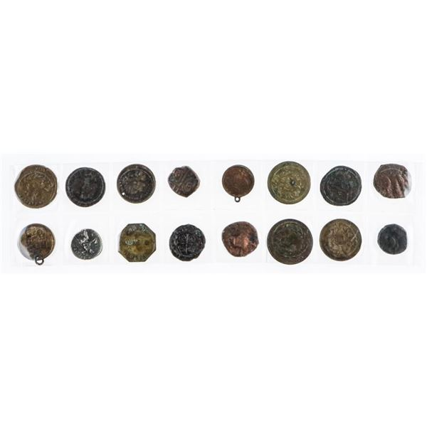 Lot (16) World Tokens/Coins Etc