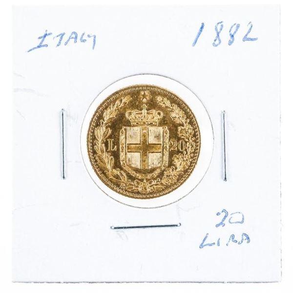 Italy 1882 20 Lira Gold Coin