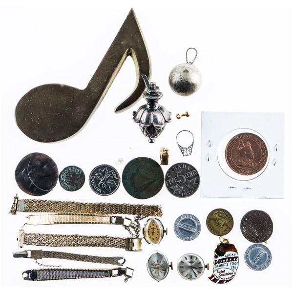 Estate Bag Lot of Misc. Coins & Stuff