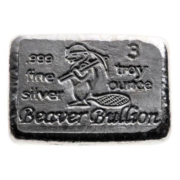Collector Bullion Brick - .999 Fine Silver  Hand Poured 3 Troy Ounce Brick