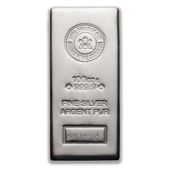 Premier - RCM 100oz .9999 Fine Silver Bar.  Very Collectible Canadian Silver. (Delivery  or Pick Up