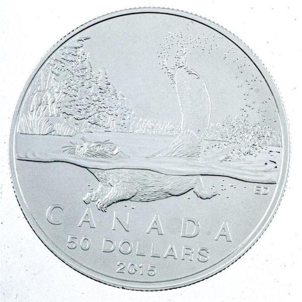 RCM 2015 Fine Silver $50 River Otter