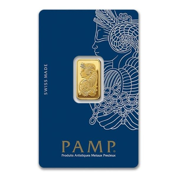 Swiss - 5g .999 Fine Gold Bar in Original  Case, Serialized. (Delivery or Pick Up Within  7-14 Days)