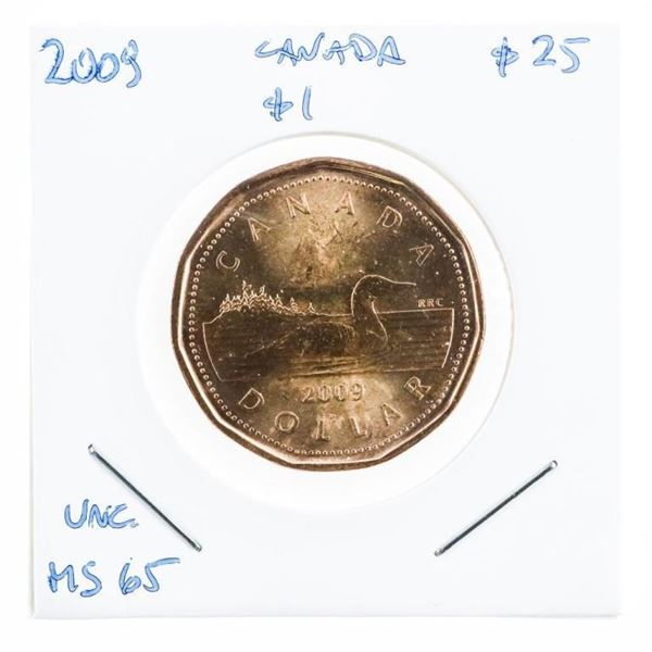 2009 Canada $1 UNC MS65 (B4me)