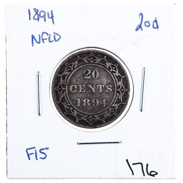 1894 NFLD Silver 20 Cents