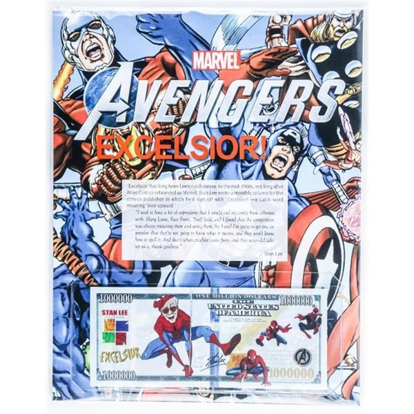 """Marvel """"Avengers"""" Collector Note w/8 x 10  Giclee Art card"""