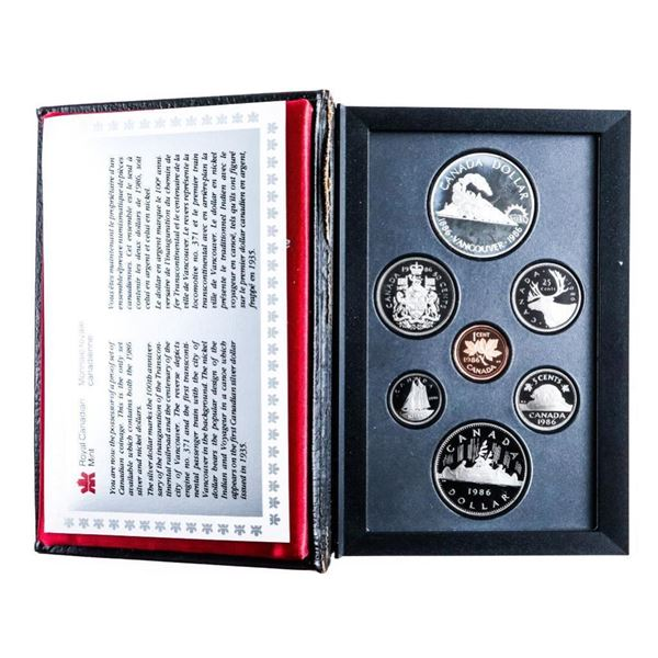 1986 Canada Double Dollar Coin Set with  Silver.