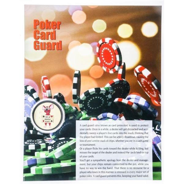 "Casino Medallion - ""I'm a River Rat"" 24kt  Gold Gilded w/ 8x10 Giclee Art Card"