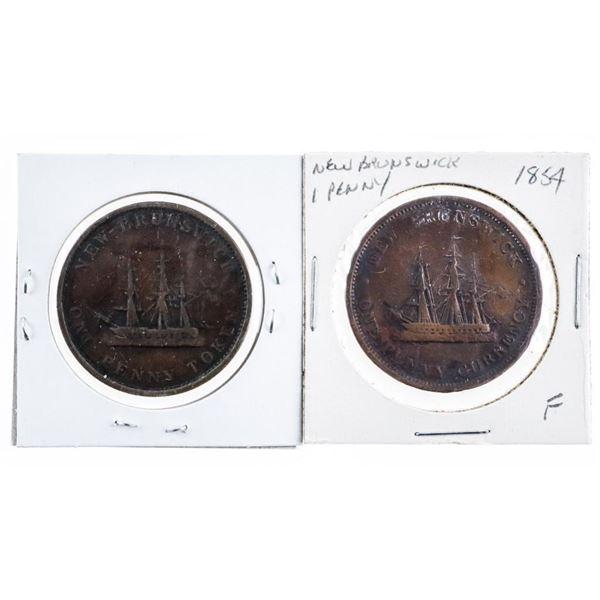 Lot 2 NB 1843 & 1854 Large Cents