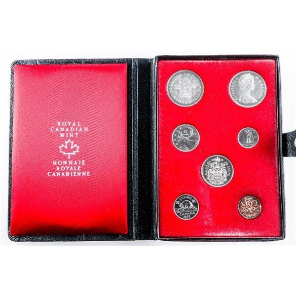 1971 RCM Prestige Specimen Coin Set - Black  Leather Case