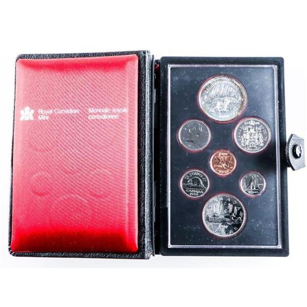 RCM 1980 Proof Coin Set w/ Silver Dollar
