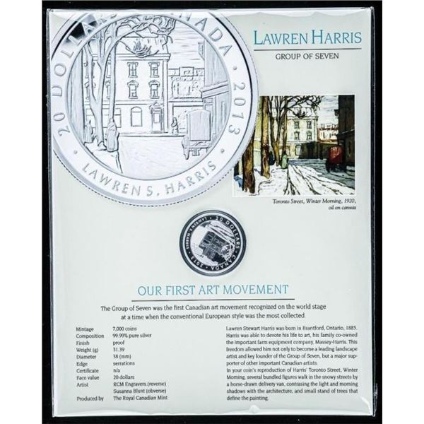 Sold Out - Lawren Harris .9999 Fine Silver  20.00 Coin with Display.