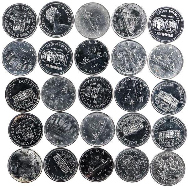 Lot/Bag of 25 Canada Nickel Dollar Coins