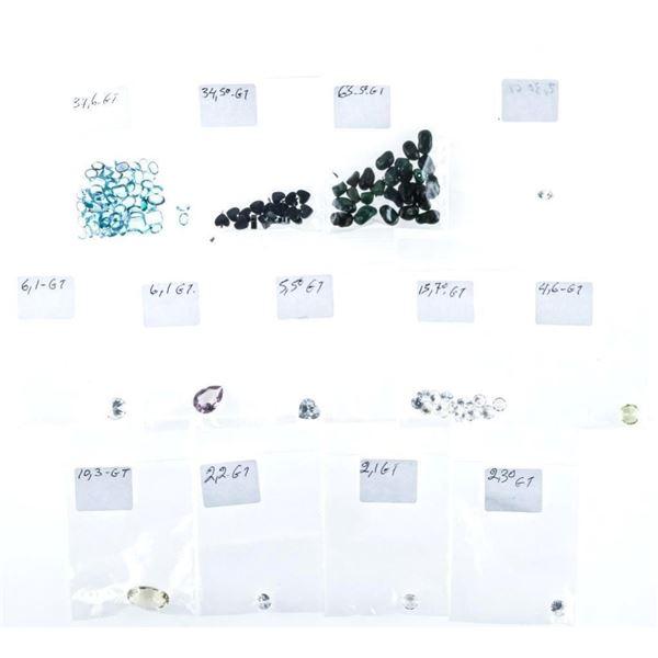 Estate Lot of Gemstones over 200ct tw