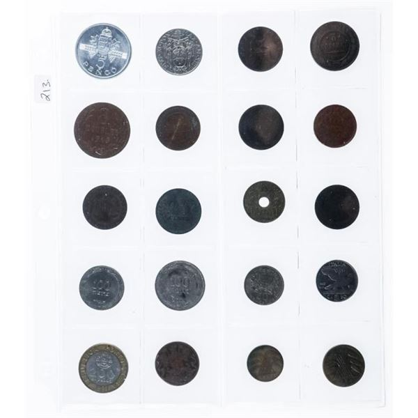 Group of (20) World Coins