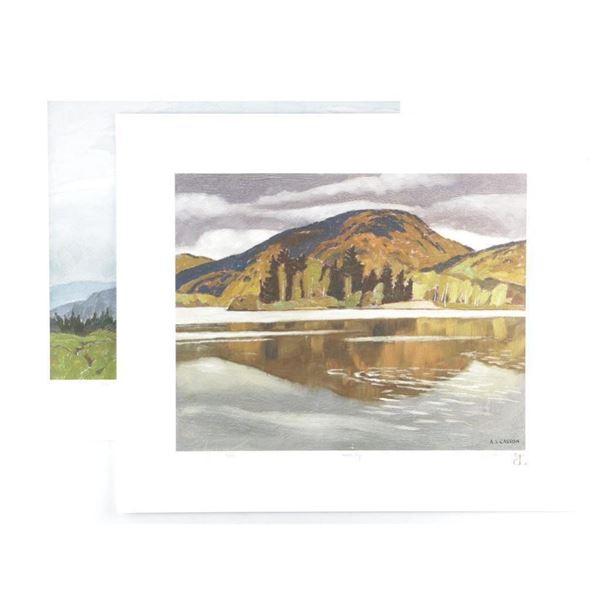 """A.J. Casson (1898-1992) Art Folio 'Summer's  End' LE 12x13"""""""