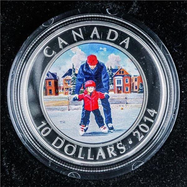 RCM 2014 Fine Silver $10 Skating in Canada  Coin