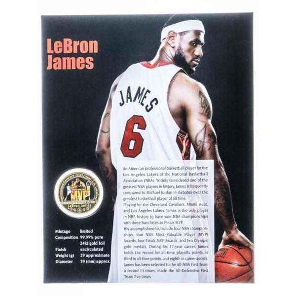 LeBron James - Collector Medallion MVP with  8x10 Giclee Art Card