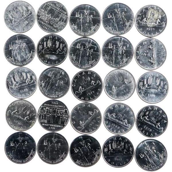 Bag/Lot 25 Canada Nickel Dollars Mixed