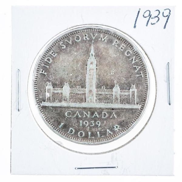 1939 Canadian Silver Dollar Toned