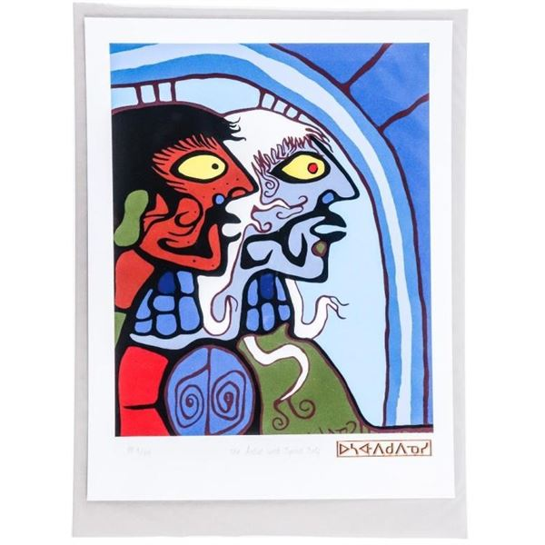 """Norval Morrisseau - Copper Thunderbird -  Giclee - """"Separate Life Forms"""" 8 x 11 UF LE  Plate Signatu"""