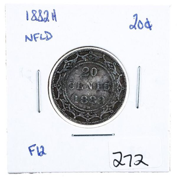 1882 H NLFD Silver 20 Cents