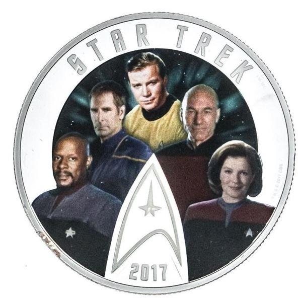 RCM Fine Silver $30 Coin - Star Trek - Five  Captains - Display box