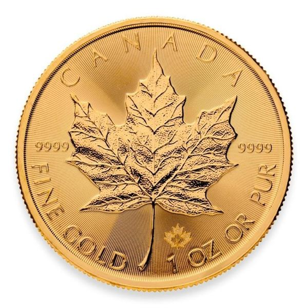 Royal Canadian Mint .9999 Fine Gold 1oz Maple  Leaf with Special 2021 Maple Leaf Privy.  Available f