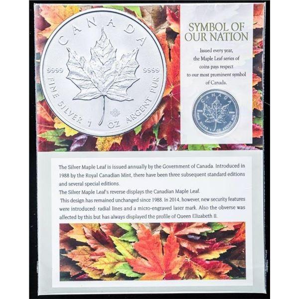 RCM Maple Leaf $5.00 Symbol of Our Nation  .999 Fine Silver 1oz 2007