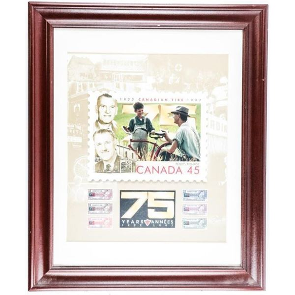 Canada 75 Years 1922 - 1997 Collector Frame  Canadian Tire 20 x 24