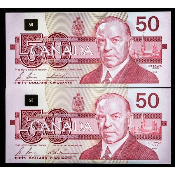 Bank of Canada Lot -2 1988 GEM UNC 450 in  Sequence (FHN)