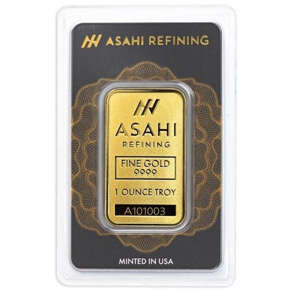 USA Asahi (Formally Known As Johnson Matthey)  .9999 Fine Gold 1oz Bar. Very Collectible  (Tax Exemp