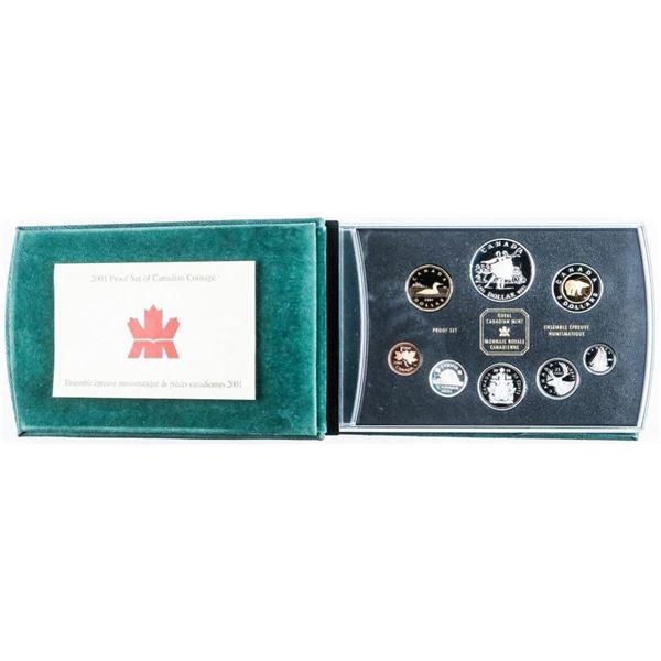 RCM 2001 Proof Set w/ Silver Dollar Black  Leather case
