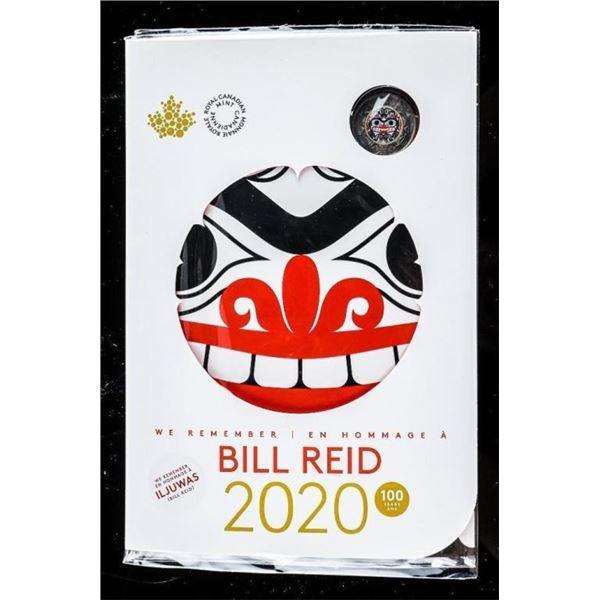 RCM 2020 Bill Reid - Special issue Coin Folio  w/ Artwork $2.00 Coin