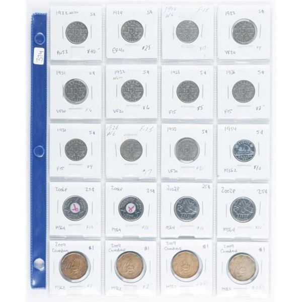 Group of (20) Coins of Canada