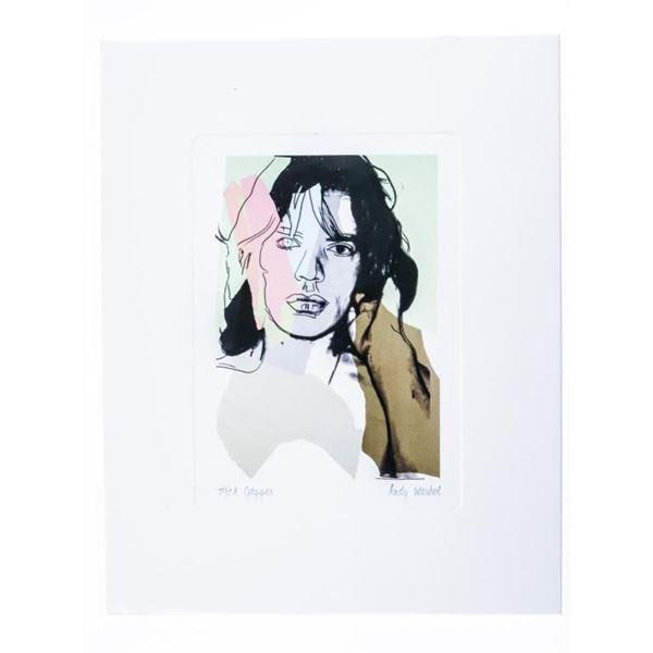 "Andy Warhol - Giclee Image ""Mick Jagger"" 5 x  7"