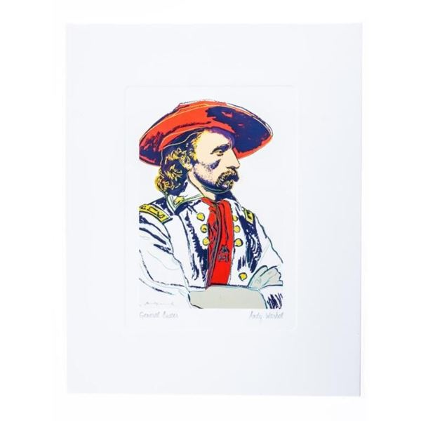 """Andy Warhol - Giclee Image """"General Custer"""" 5  x 7"""