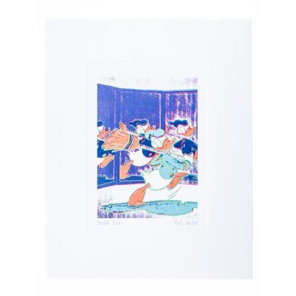 "Andy Warhol - Giclee Image ""Donald Duck"" 5 x  7"