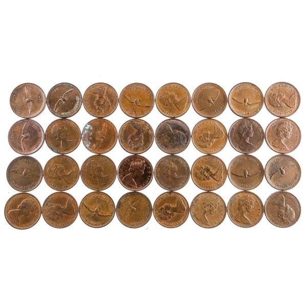Lot 32 1967 Q.E. Pennies (402)