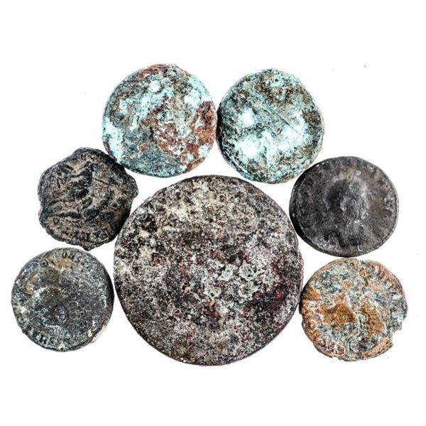 Lot of 7 Ancient Bronze Coins (405)