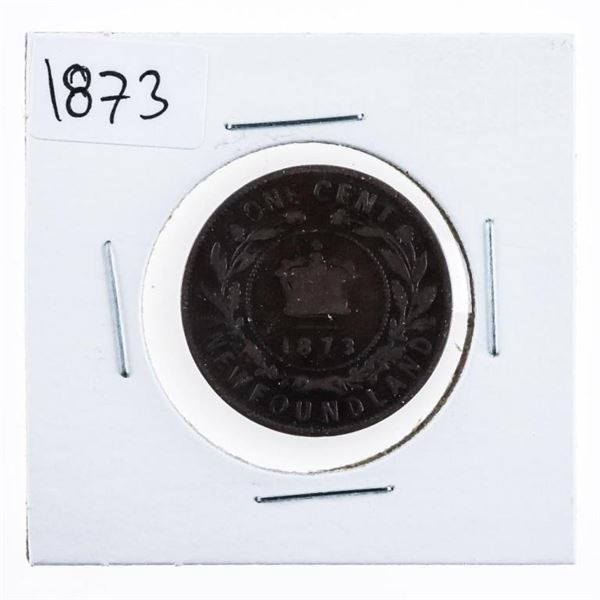 1873 Canada NFLD One Cent Queen Victoria  (646)