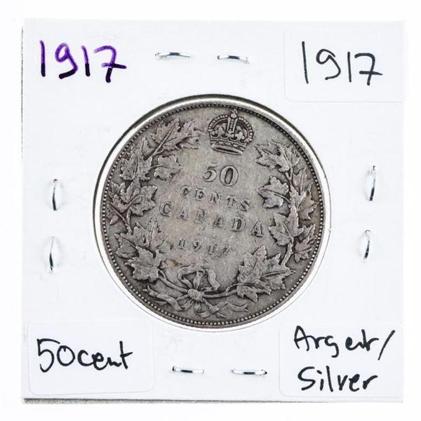 1917 Canada Silver 50 Cents GEoV (600)