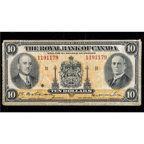 Royal Bank of Canada 1935 Five Dollars (541)
